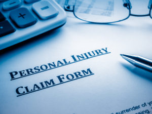 personal injury claim form that may be used by a personal injury lawyer